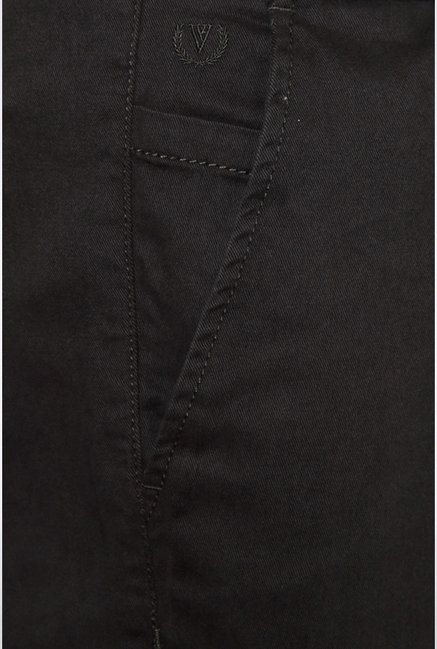 Van Heusen Dark Brown Solid Cargos