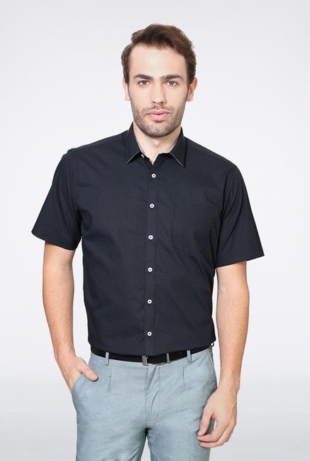 Van Heusen Black Checks Casual Shirt