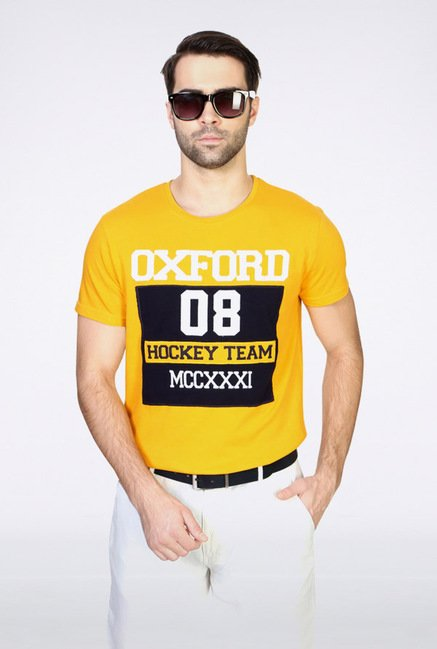 University Of Oxford Yellow Crew T Shirt