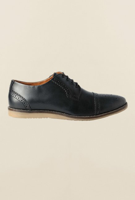 Allen Solly Black Brogue Shoes