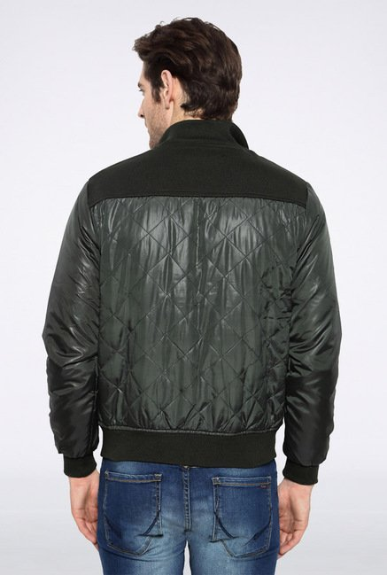People Green Solid Jacket