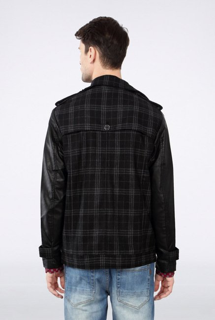 Van Heusen Black Checks Jacket