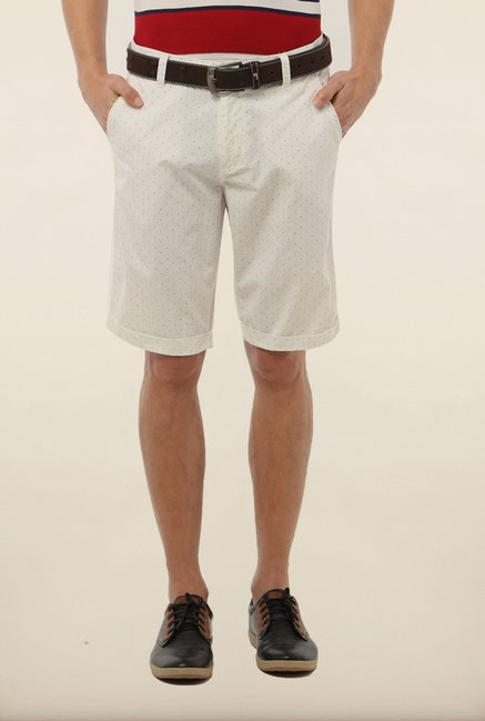 Van Heusen White Printed Shorts