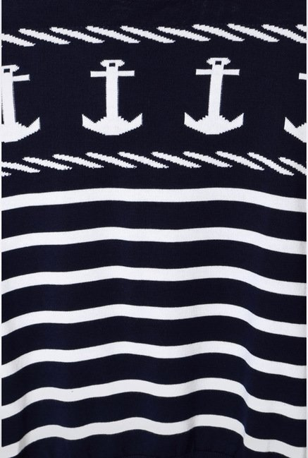 Van Heusen Navy Printed Sweater