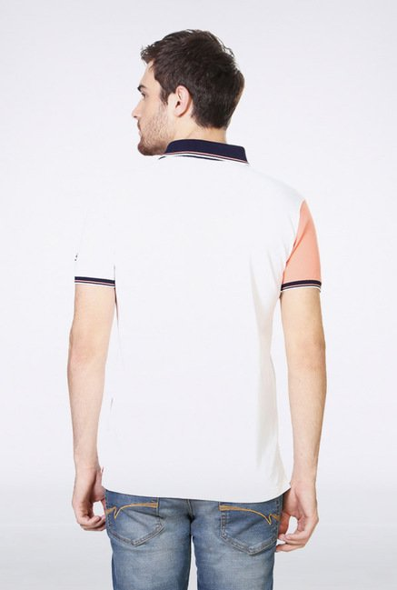 University Of Oxford White Solid Polo T Shirt