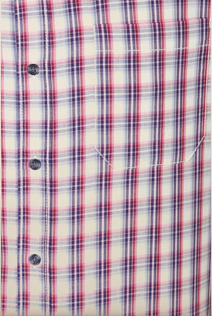 People Multicolor Checks Casual Shirt