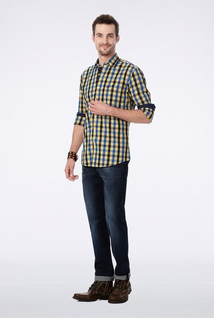 University Of Oxford Multicolor Checks Casual Shirt