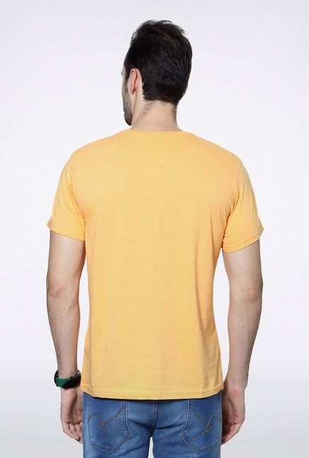 People Mustard Graphic Crew T Shirt