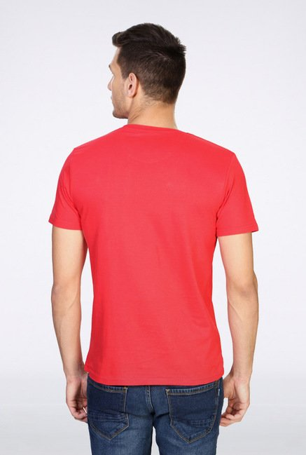 People Red Graphic Crew T Shirt