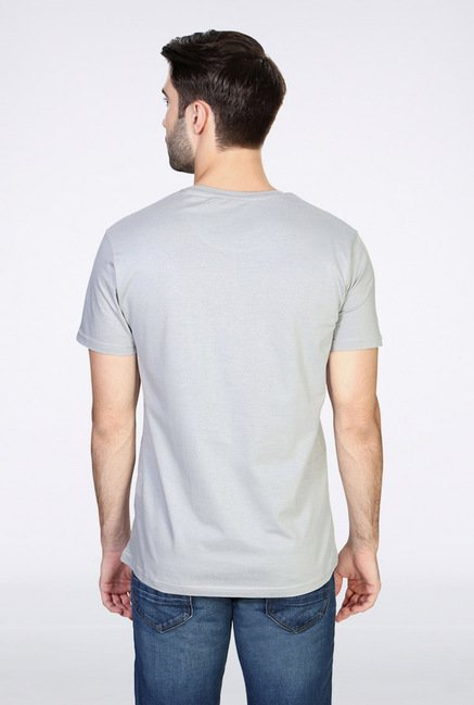 People Grey Graphic Crew T Shirt