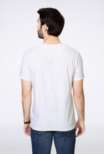 People White Solid Henley T Shirt