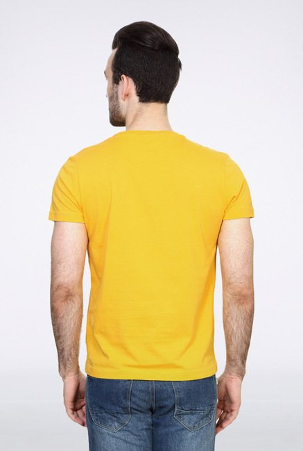 University Of Oxford Yellow Graphic Crew T Shirt