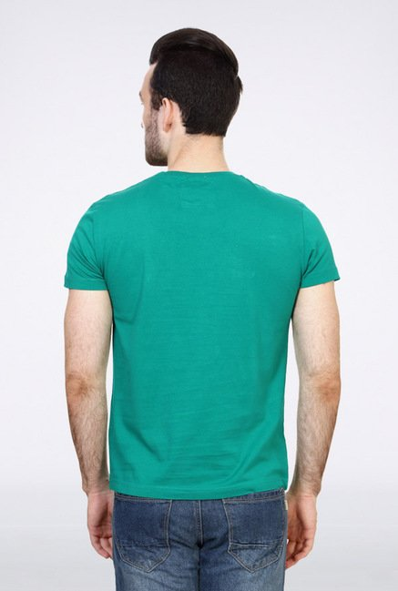 University Of Oxford Green Graphic Crew T Shirt