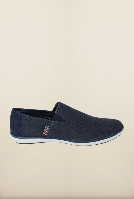 Arrow Navy Canvas Slip-Ons Shoes