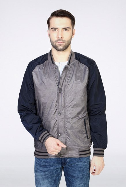 Van Heusen Grey Solid Jacket