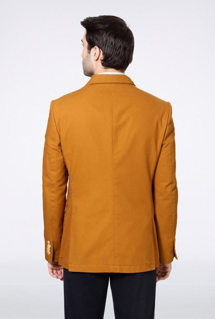 Van Heusen Yellow Solid Blazer