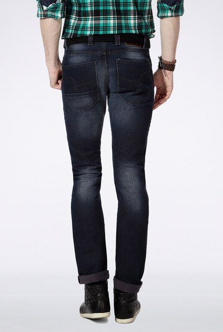 People Navy Slim Fit Jeans