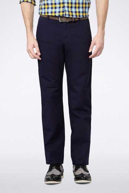 Van Heusen Navy Casual Trousers