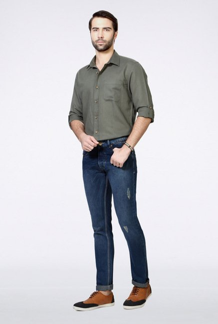 People Blue Regular Fit Jeans
