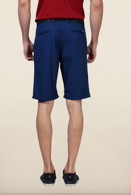 Van Heusen Blue Printed Shorts