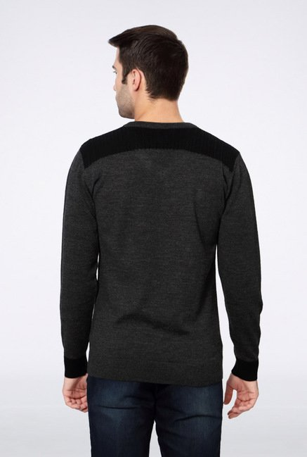Van Heusen Grey Solid Sweater