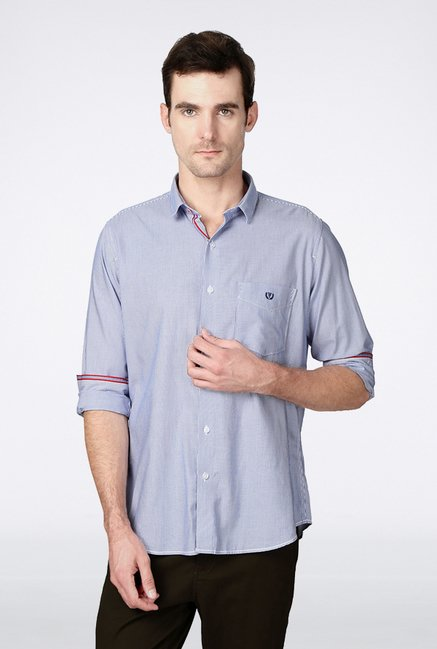 Van Heusen Blue Pin Striped Casual Shirt