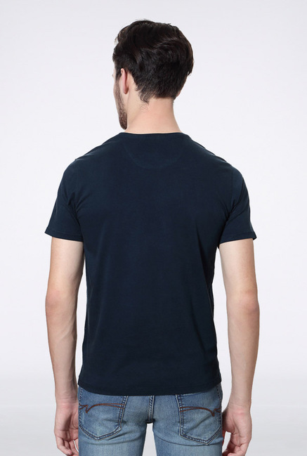 Van Heusen Navy Graphic Crew T Shirt