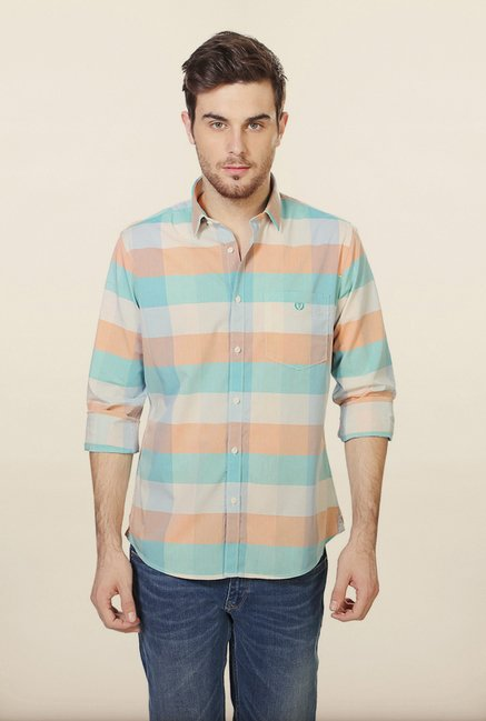 Van Heusen Multicolor Checks Casual Shirt