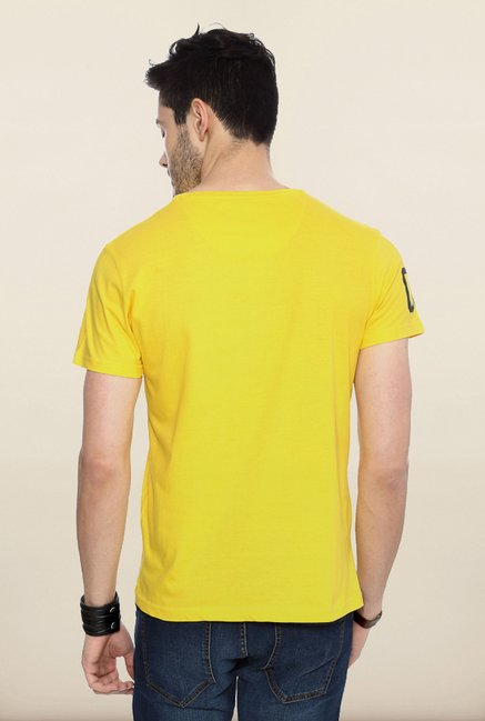 People Yellow Graphic Crew T Shirt