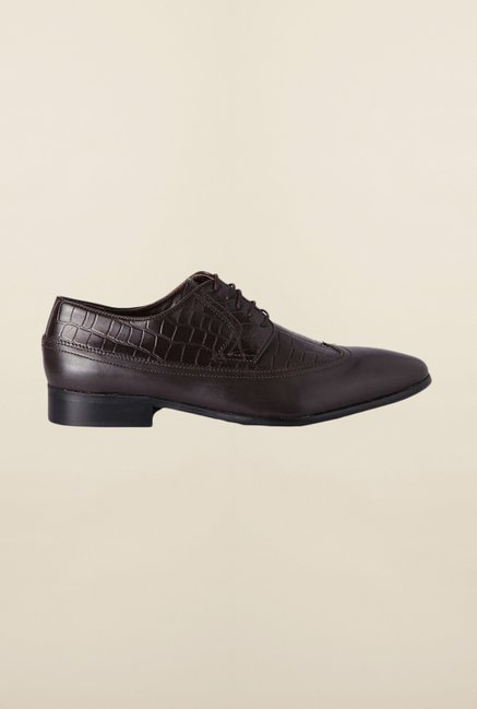 Van Heusen Dark Brown Derby Shoes