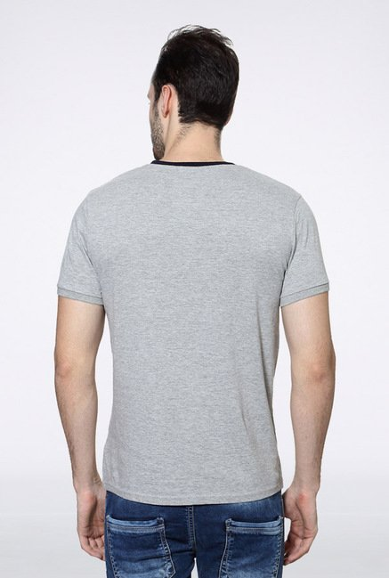 University Of Oxford Grey Solid Crew T Shirt