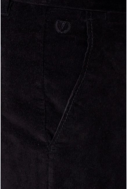 Van Heusen Black Solid Chinos