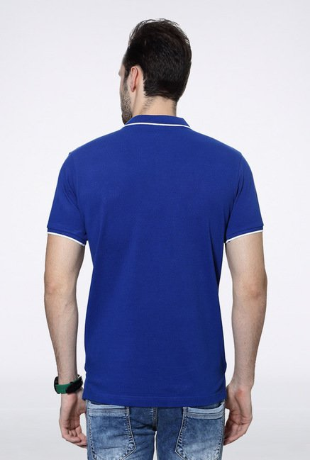 University Of Oxford Blue Solid Polo T Shirt