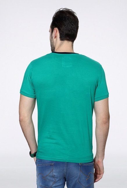 University Of Oxford Green Solid Crew T Shirt