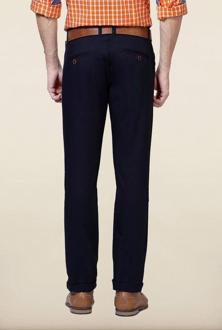 University Of Oxford Navy Solid Chinos