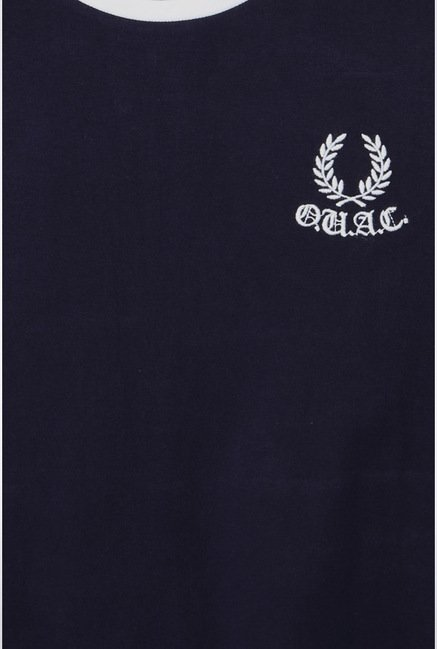 University Of Oxford Navy Solid Crew T Shirt