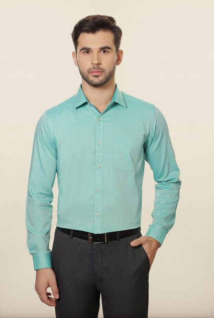 Van Heusen Turquoise Formal Shirt
