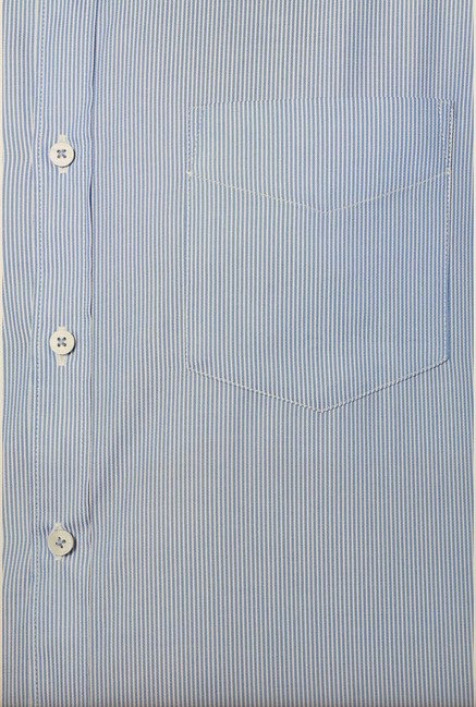 Van Heusen Blue Striped Formal Shirt