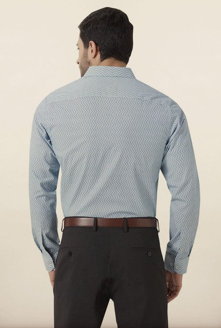 Peter England Blue Formal Shirt