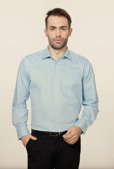 Van Heusen Blue Checks Formal Shirt
