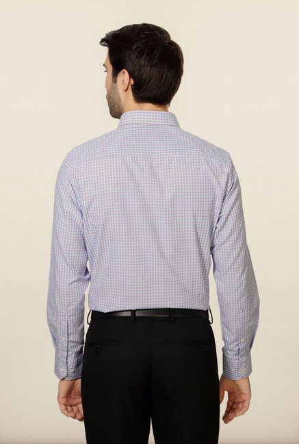 Peter England Lilac Checks Formal Shirt
