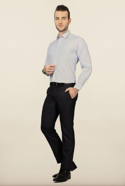 University of Oxford Blue Striped Formal Shirt
