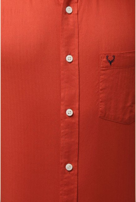 Allen Solly Orange Formal Shirt