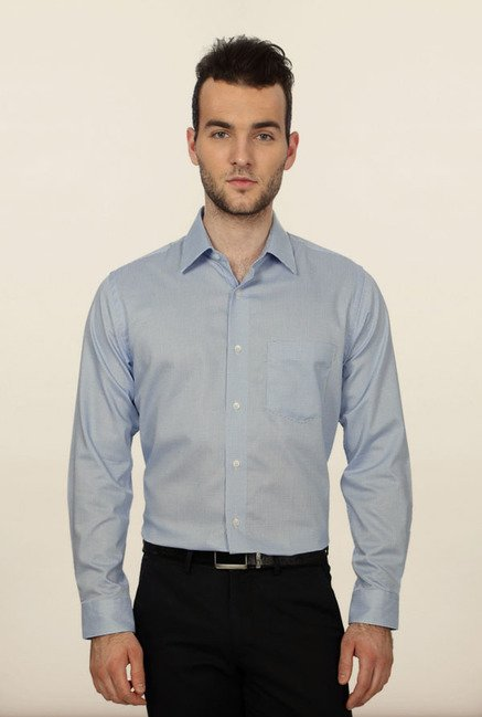 Allen Solly Blue Checks Formal Shirt