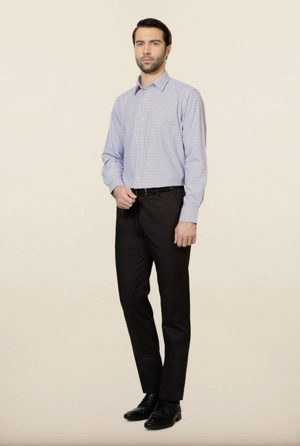 Peter England Purple Checks Formal Shirt