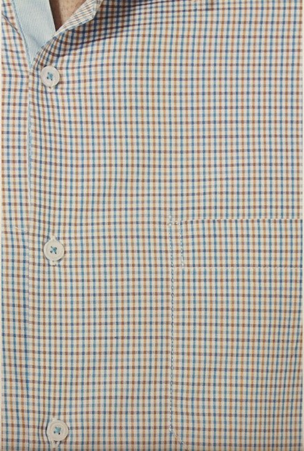 Peter England Multicolor Checks Formal Shirt