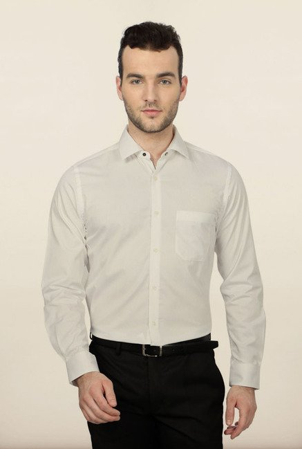Peter England White Formal Shirt