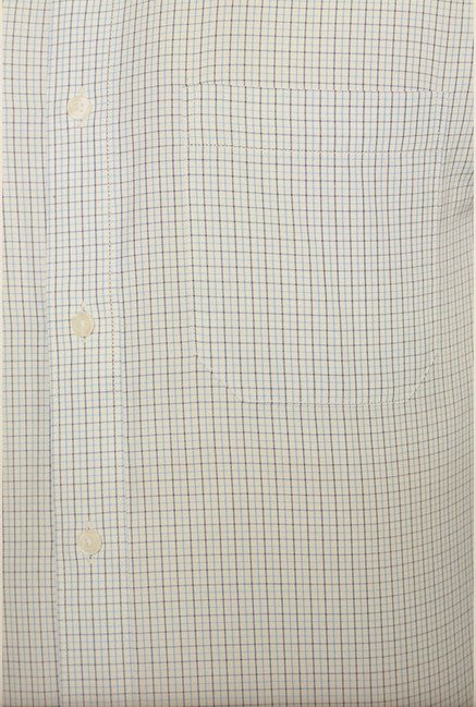 Peter England Light Blue Checks Formal Shirt