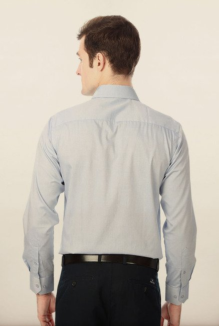 Peter England Light Blue Cotton Formal Shirt