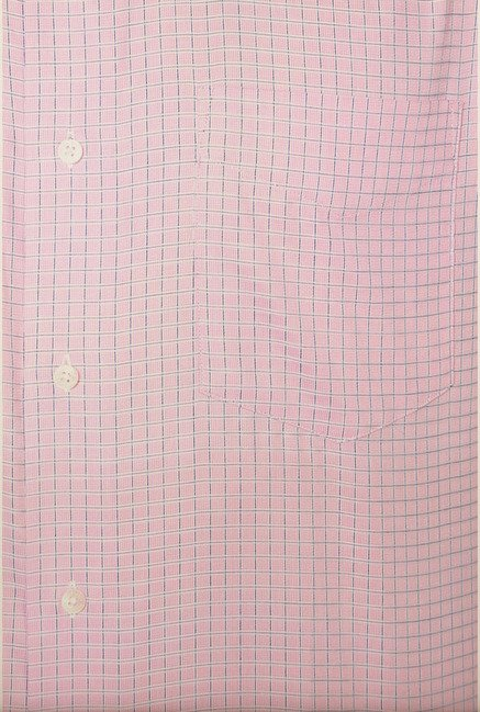 Van Heusen Pink Checks Formal Shirt